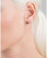 Alison Lou Multicolor Topaz Single Stud Earring