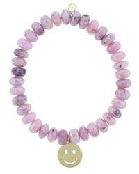 Sydney Evan Multicolor Happy Face Charm Bracelet