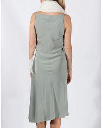 Brunello Cucinelli Gray Monili Strap Dress