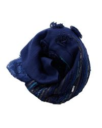 K. Janavi - Blue Floral Beaded Scarf - Lyst