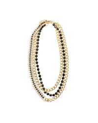 Marni | Black Strass Necklace | Lyst