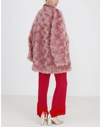 Stella McCartney Red Elina Faux Fur Coat