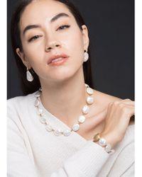 Yvel Metallic White Keshi Fresh Water Pearl Bracelet