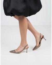 Manolo Blahnik - Metallic Carolyne Slingback Heels - Lyst