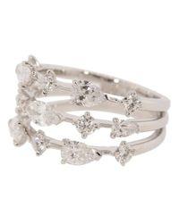 Kwiat Metallic Three Line Diamond Ring