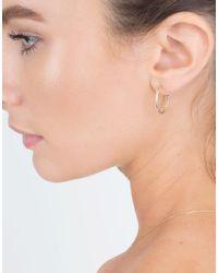 Sydney Evan - Metallic Rainbow Hoop Earrings - Lyst