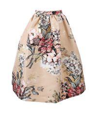 Fendi - Multicolor Floral Print Full Skirt - Lyst