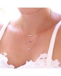 Dana Rebecca | Metallic Sylvie Rose Mini Black Diamond Necklace | Lyst