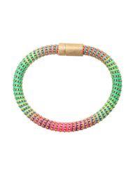 Carolina Bucci Multicolor Neon Twister Band Bracelet