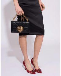 Dolce & Gabbana Black Devotion Medium Flap Chain Bag