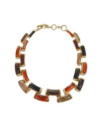 Vaubel - Metallic Curved Wood Link Necklace - Lyst