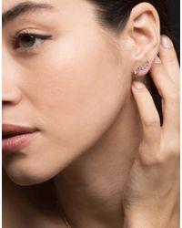Suzanne Kalan Multicolor Small Bar Baguette Diamond Ear Crawler