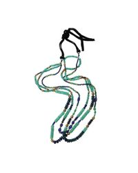 Royal Nomad Jewelry | Blue Two Strand Chrysoprase, Lapis, And Azurite Bead Necklace for Men | Lyst