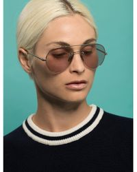 Linda Farrow Purple Metal Sunglasses