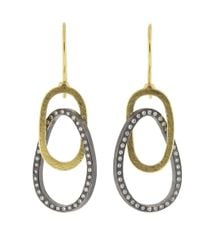 Todd Reed - Metallic Circle Drop Earrings - Lyst