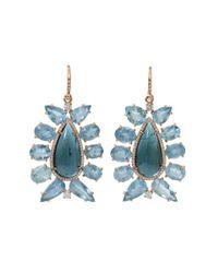 Irene Neuwirth   Blue Indicolite Tourmaline Earrings   Lyst