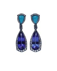 Arunashi - Blue Tanzanite And Turquoise Earrings - Lyst