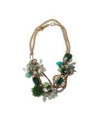 Subversive Jewelry Green Emerald Wreath Necklace