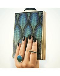 Monique Péan - Black Spectrolite And White Diamond Bar Ring - Lyst
