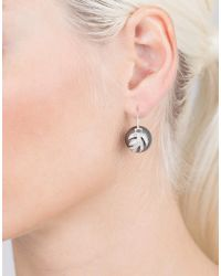 Jordan Alexander | Metallic Tahitian Pearl And Diamond Leaf Earrings | Lyst