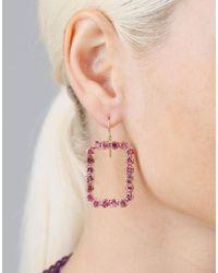 Sylva & Cie Multicolor Phantom Pink Tourmaline Earrings