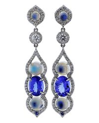 Inbar | Blue Cabochon Earrings | Lyst