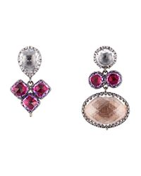 Larkspur & Hawk Pink Sadie Mis-matched Peony Earrings