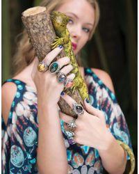 Sevan Biçakci Multicolor Carved Doves Ring