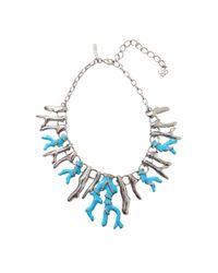 Oscar de la Renta - Blue Resin Coral Necklace - Lyst