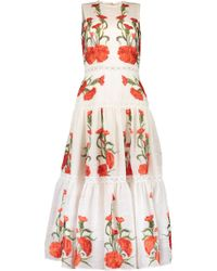 Alexis Embroidered Leomie Dress