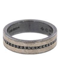 Todd Reed Metallic Black Brilliant Diamond Band Ring for men
