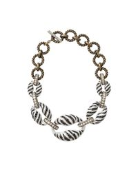 Lanvin | Black Mina Tiger Chain Necklace | Lyst