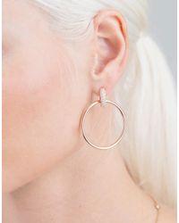 Spinelli Kilcollin - Metallic Casseus Rose Hoop Earrings - Lyst