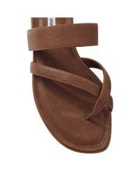 Manolo Blahnik Brown Slide Sandal