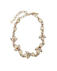 Oscar de la Renta - Metallic Pear Rhinestone Necklace - Lyst