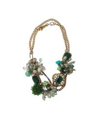 Subversive Jewelry Green Emerald Wreath Necklace