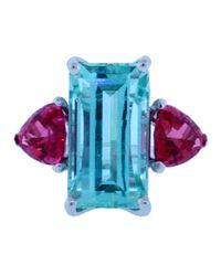 Katherine Jetter - Neon Blue Green Tourmaline Ring - Lyst
