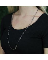 Annie Fensterstock Metallic Large Oval Link Necklace