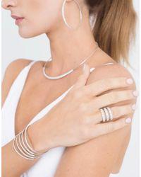 Mattia Cielo - White Rugiada Five-circle Wrap Bracelet - Lyst