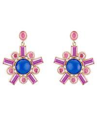 Larkspur & Hawk - Blue Cora Fancy Chandelier Earrings - Lyst
