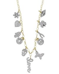 Sydney Evan - Metallic Mini Pave Charm Necklace - Lyst