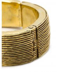 Vaubel - Metallic Multi-line Hinged Bangle - Lyst