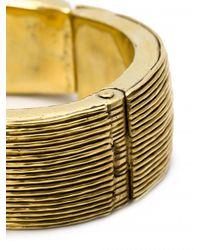 Vaubel | Metallic Multi-line Hinged Bangle | Lyst