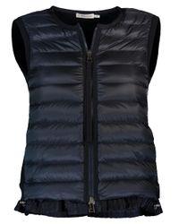 Moncler Blue Maglia Tricot Gilet Vest