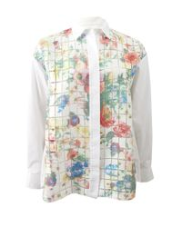 Giambattista Valli Multicolor Floral Print Button Down Blouse