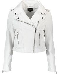 Lamarque White Donna Leather Jacket