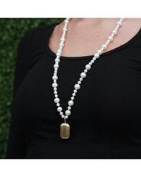 Carolina Bucci - White Looking Glass Fresh Water Pearl Necklace - Lyst