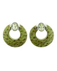 Silvia Furmanovich - Green Marquetry Hoop Earrings - Lyst