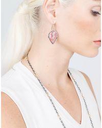 Sylva & Cie | Pear Shape Pink Sapphire Slice Earrings | Lyst