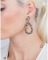 Yossi Harari Brown Libra Cognac-diamond Drop Earrings